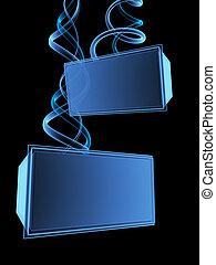 scherm, 3d, digitale