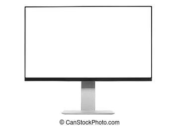 scherm, computer, witte , monitor