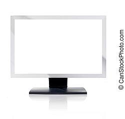 scherm, computermonitor, witte , leeg