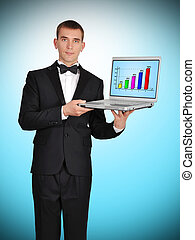 scherm, draagbare computer, tabel