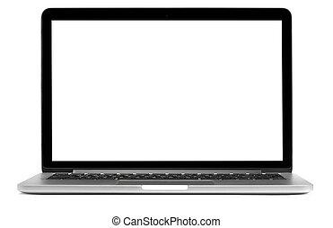 scherm, draagbare computer, vrijstaand, leeg