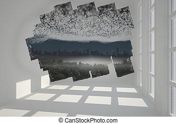 scherm, het tonen, abstract, cit, kamer