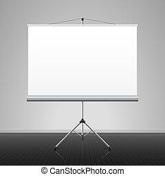 scherm, projectie