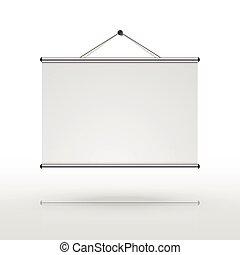 scherm, projector, leeg