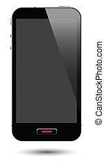 scherm, smartphone