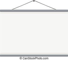 scherm, vector, projectie, leeg