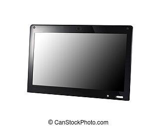 scherm, witte , draagbare computer