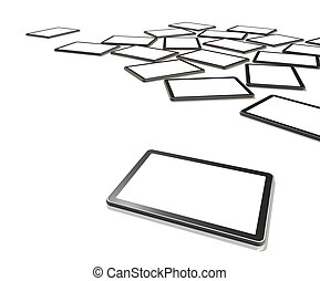 schermen, tablet, tv, pc, digitale , 3d