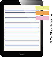 schermo, carta, blocco note, transatlantico, tavoletta