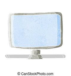 schermo, computer, cartone animato
