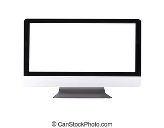 schermo, computer, mostra, vuoto