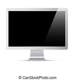 schermo, computer, nero, monitor