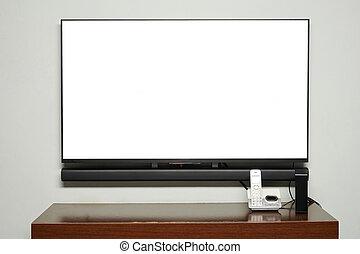 schermo, condotto, altoparlante