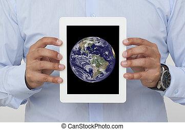 schermo, di, uno, tavoletta digitale