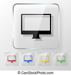 schermo, icona computer