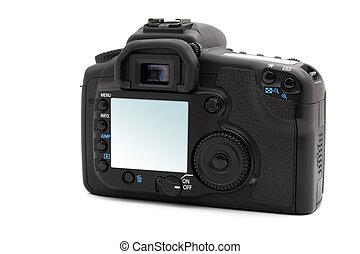schermo, macchina fotografica, dslr, lcd