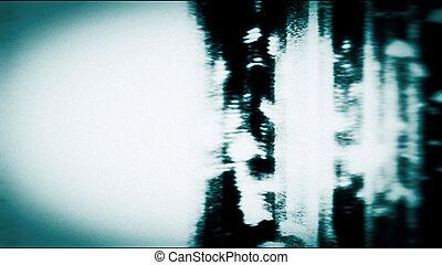 schermo, tecnologia, mostra, rumoroso