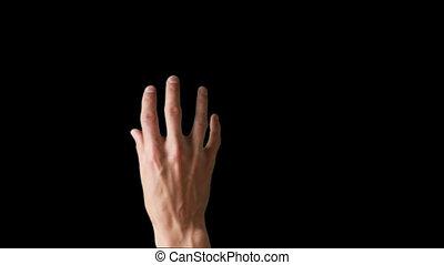 schermo tocco, dito, gesti