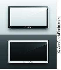 schermo tv, appendere