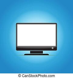 schermo vuoto, monitor computer, ardendo