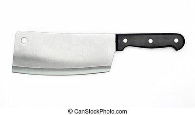 scherp mes, van, de, slager