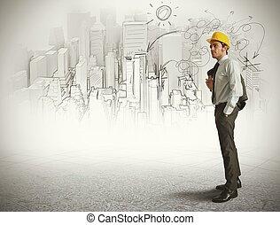 schets, architect