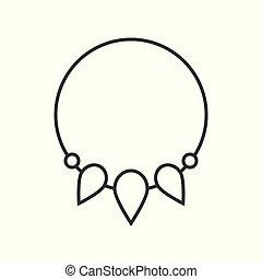 schets, armband, juwelen, vector, charme, pictogram, verwant