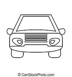 voorkant auto voertuig aanzicht grijs vervoer auto