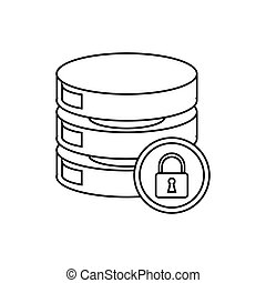 schets, centrum, kelner, veiligheid, data, netwerk