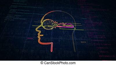 schets, cyber, cyberspace, futuristisch, privacy