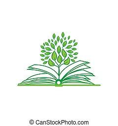 schets, design., vector, apps, illustratie, web, symbool., beweeglijk, icon., boek