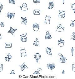 schets, geitjes, doodle, model