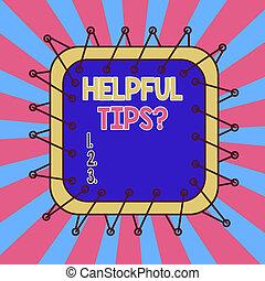 schets, het tonen, design., conceptueel, meldingsbord, zijn, gevormd, asymmetrisch, kennis, geheim, of, voorwerp, foto, question., raad, behulpzaam, formaat, gegeven, tekst, ongelijk, tips, model, veelkleurig, informatie