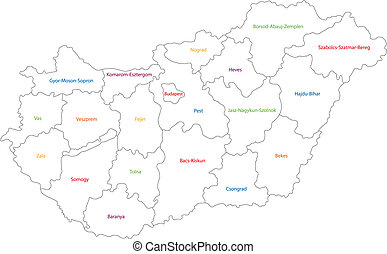 schets, hongarije, kaart