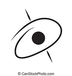 schets, isolated., blackhole, vector, ontwerp, icon., illustration.