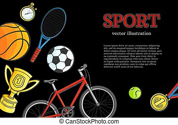 schets, model, symbool, vector, poster, sportende, pictogram