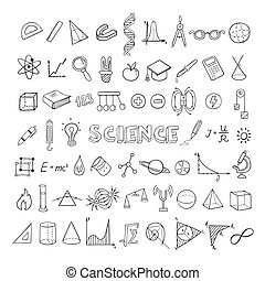schets, opleiding, verzameling, iconen
