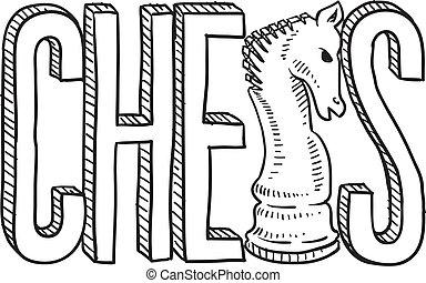 schets, schaakspel
