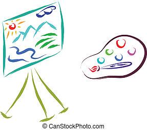 schets, schilderij