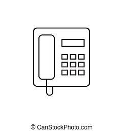 schets, vrijstaand, telefoon, achtergrond, witte , pictogram