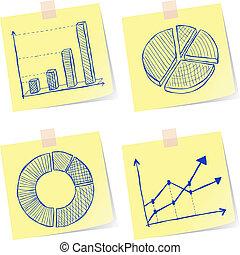 schetsen, diagrammen