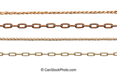 schiavitù, collegamento, strenght, corda, catena, ...