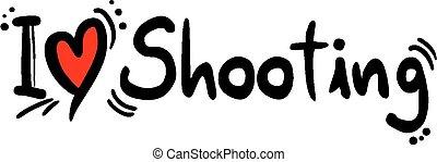 schießen, liebe