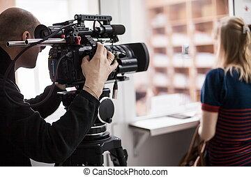 schießen, videoperator, reportage