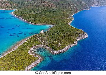 schiereiland, adriatisch, landscape, peljesac