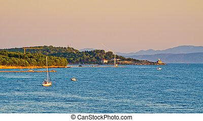 schiereiland, makarska, kroatië