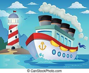 schiff, 2, thema, bild, nautisch