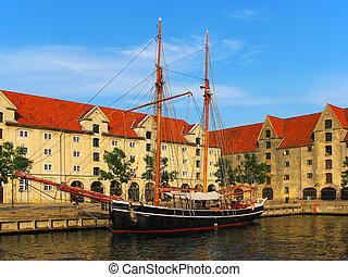 schiff, altes , kopenhagen