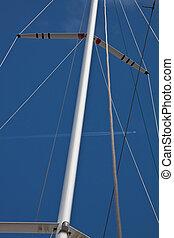 Schiff, haupt, Rennsport,  Mast