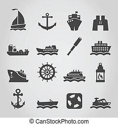schiff, ikone